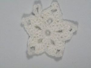 Large White Christmas Star Crochet