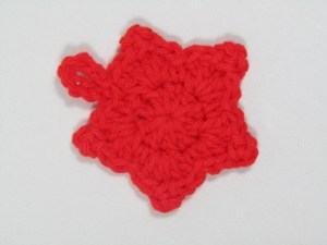 Small Red crochet star