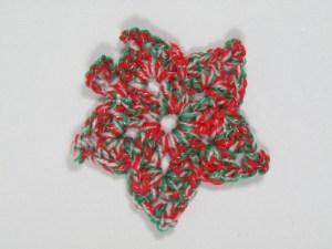 Large Christmas Sparkle Crochet Star