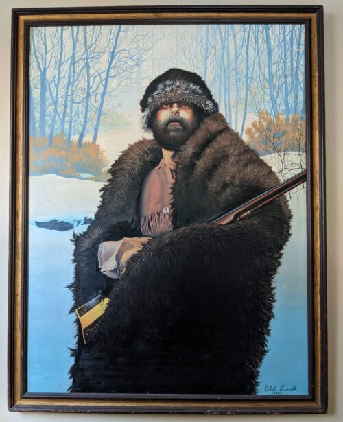 Painting of The Hunter by Clint Crowell, Oil, 1992