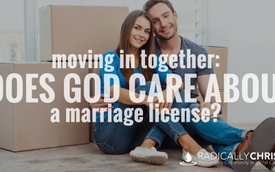 Moving In Together: Does God Care About a Marriage License?