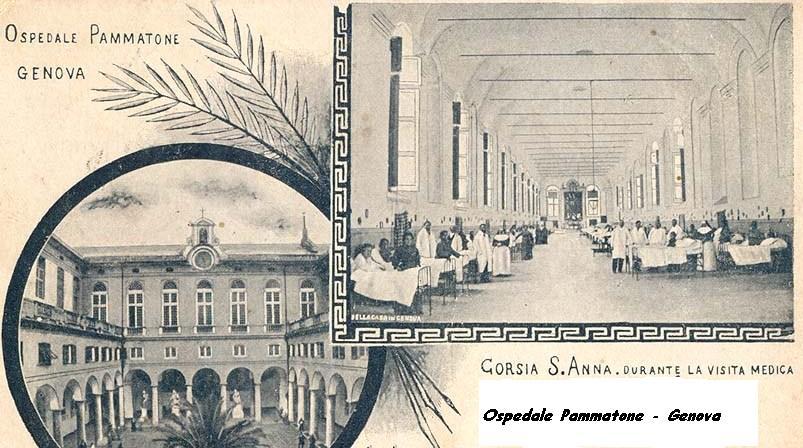 Corsia di un ospedale italiano del XIX secolo.