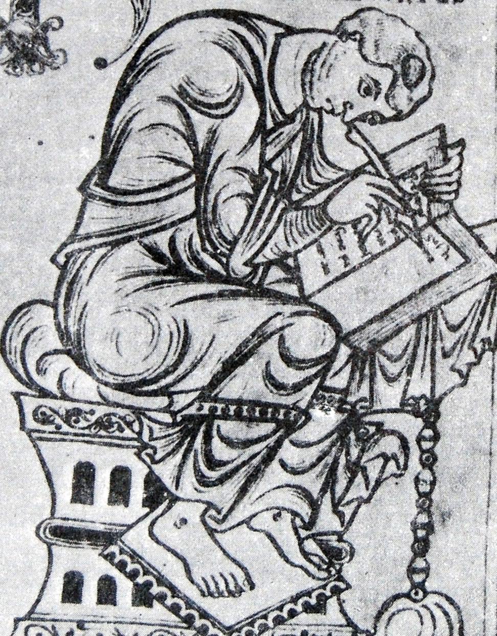 Paolo Orosio in una raffigurazione dell'XI secolo. Immagine presa da questa url