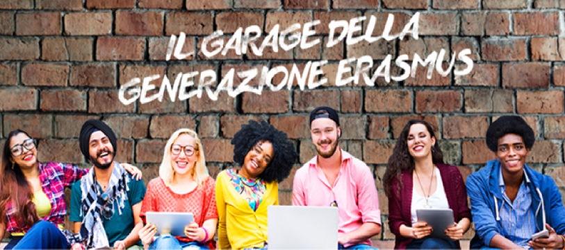Immagine propagandistica delle iniziative Erasmus; l'accento viene chiaramente posto sull'idea di multiculturalismo.