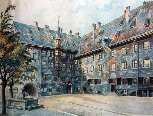 Quadro dipinto nel 1914 da Adolf Hitler.