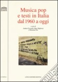 Musica pop e testi in italia dal 1960 a oggi