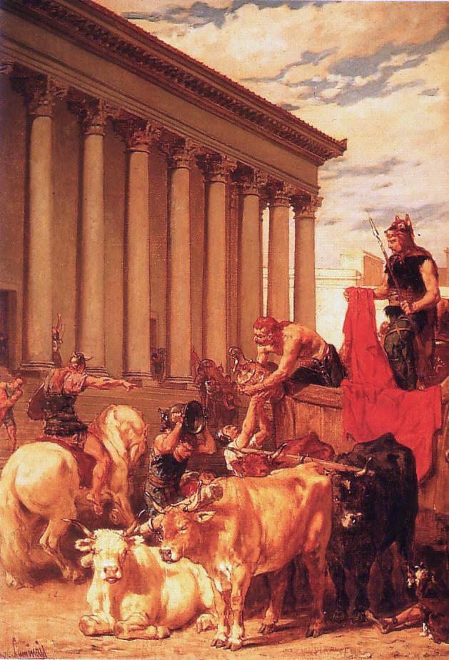 Evariste-Vital Luminais, Il sacco di Roma