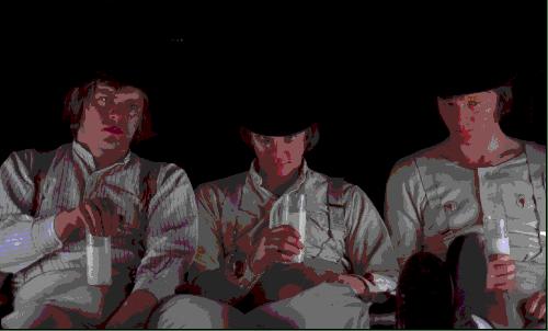 Alex e i suoi drughi bevono lattepiù al Korova Milk Bar