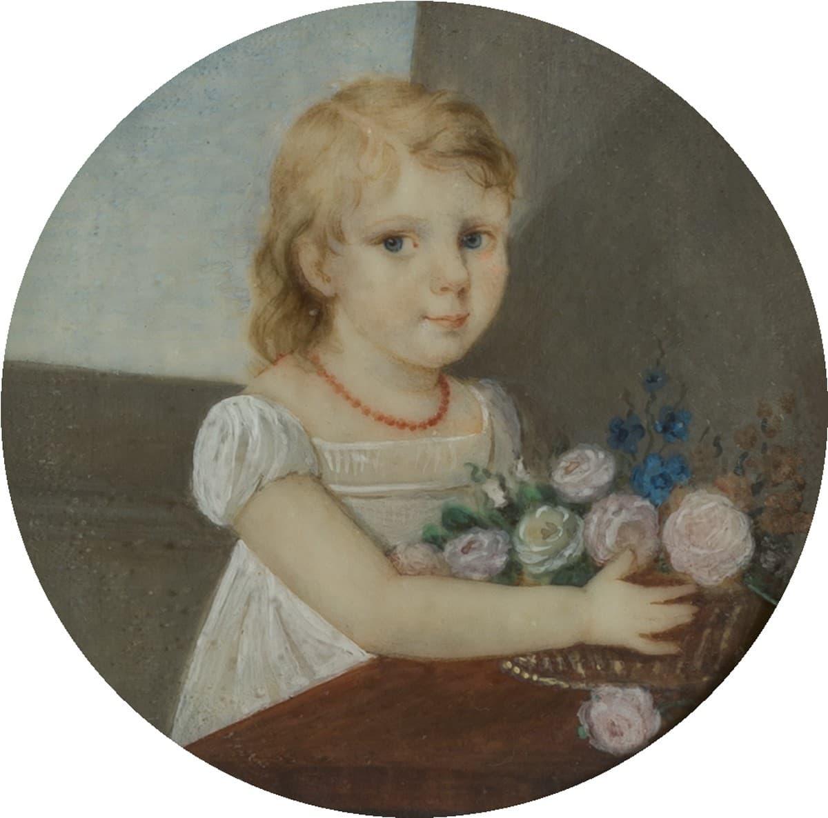 Un medaglione rappresentante Allegra Byron. Immagine reperibile a