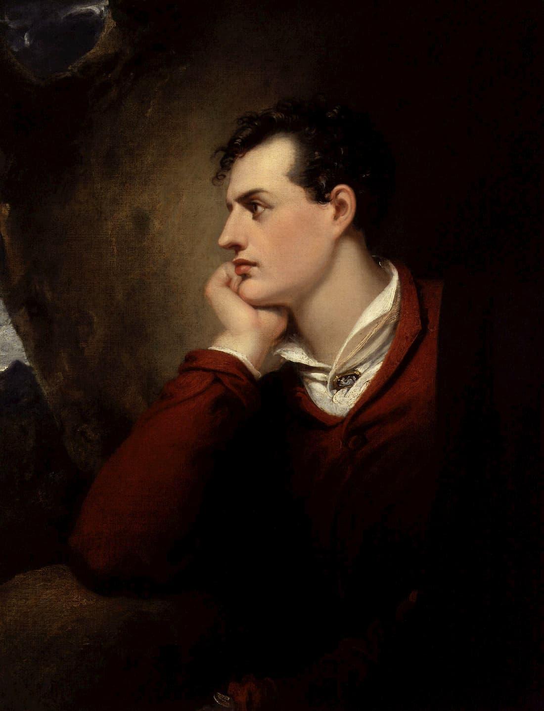 Lord Byron in veste da camera. Immagine reperibile a questo link.
