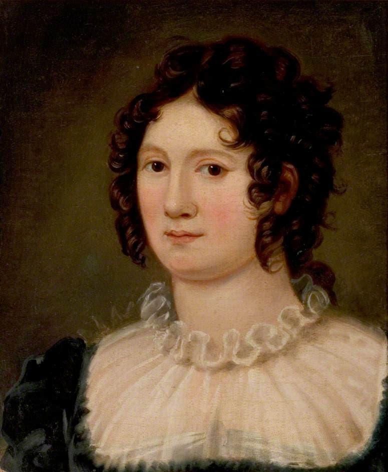 Claire Clairmont a ventuno anni, nel ritratto di Amelia Curran. Immagine reperbile a