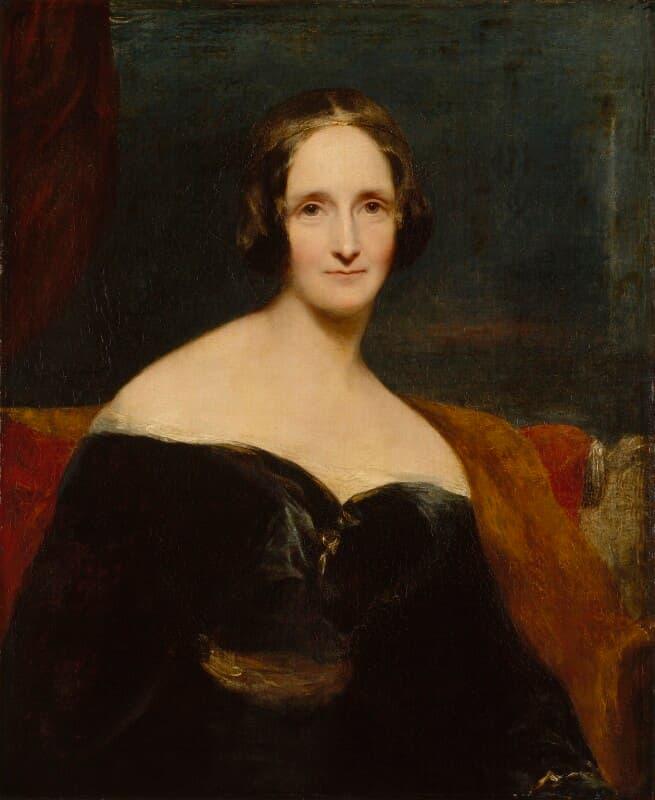 Una quarantatreenne Mary Shelley nel ritratto di Richard Rothwell. Immagine reperibile a
