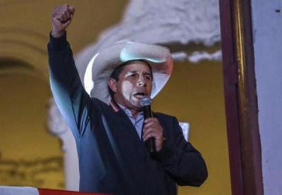 Pedro Castillo obtuvo la mayoría de los votos en las elecciones presidenciales peruanas