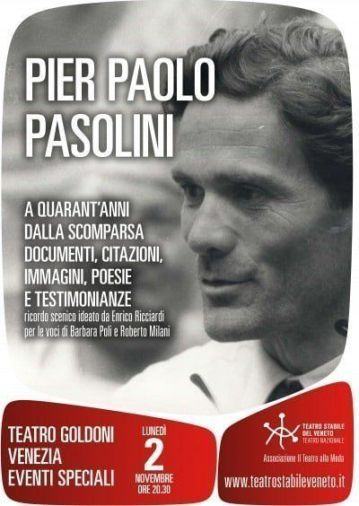 November 2, 2015 PASOLINI_locandina Goldoni