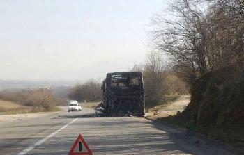 Digjet tërësisht autobusi i Beogradit (Video)
