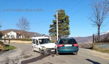 Aksident trafiku në udhëkryqin e fshatit Brrut (Foto)