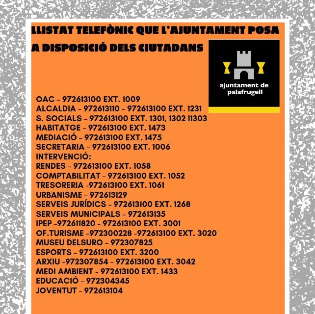 L'Ajuntament de Palafrugell reforça l'atenció telefònica per atendre la ciutadania