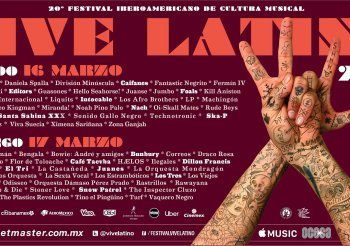 Bandas y solistas por día del Vive Latino XX