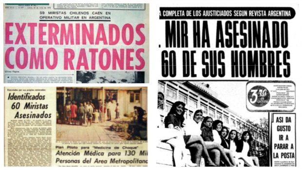 La reacción de los medios de comunicación ante el montaje de la 'Operación Colombo' es recordada como uno de los episodios más negros del periodismo chileno. Foto: Archivo.