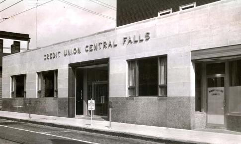 Central Falls Credit Union old street front.