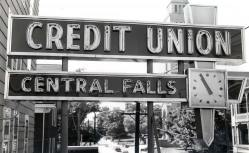 Old neon sign from Central Fall Credit Union