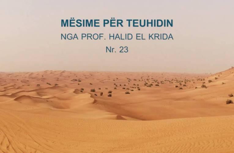 TEUHIDI 23 Prof. Halid El Krida