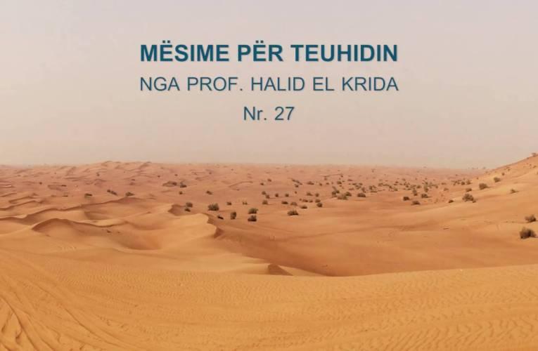 TEUHIDI 27 Prof. Halid El Krida