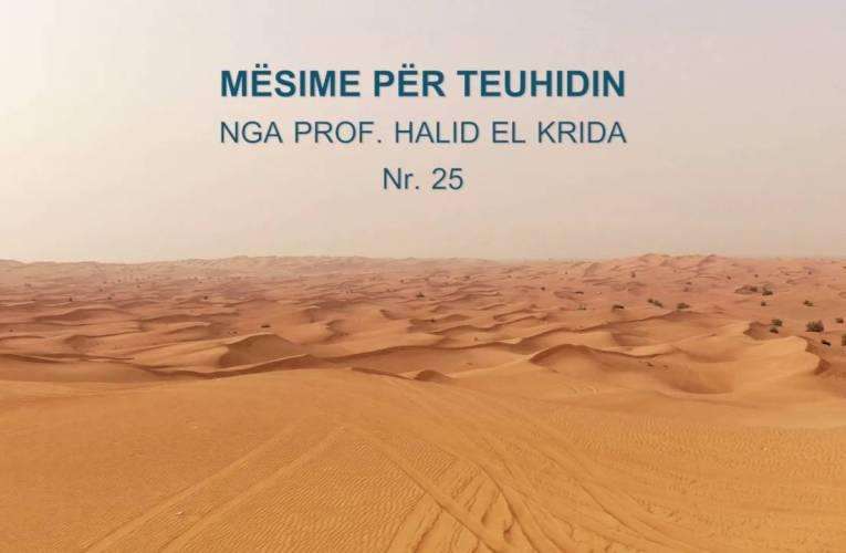 TEUHIDI 25 Prof. Halid El Krida