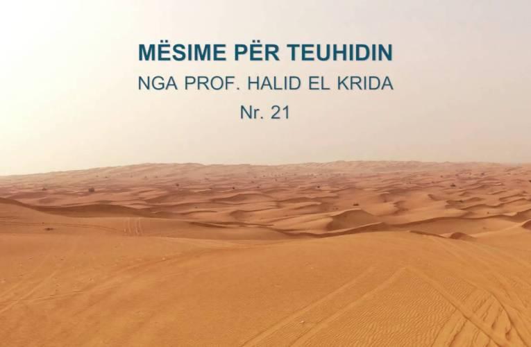 TEUHIDI 21 Prof. Halid El Krida