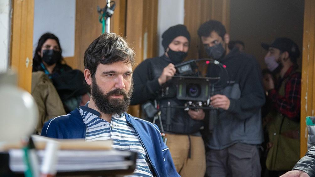 """Manuel de la Serna en en el rodaje de """"El hombre de la luna""""."""