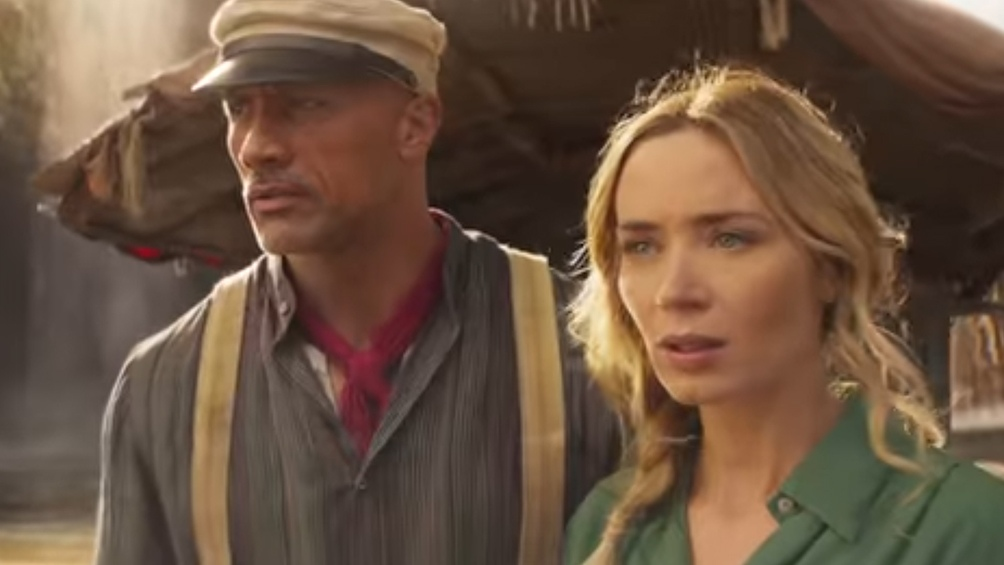"Dwayne Johnson y Emily Blunt en ""Jungle Cruise"""