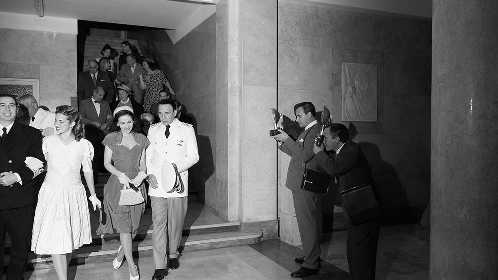 Las escaleras del Luna Park recreadas en la actual cancha de Huracán