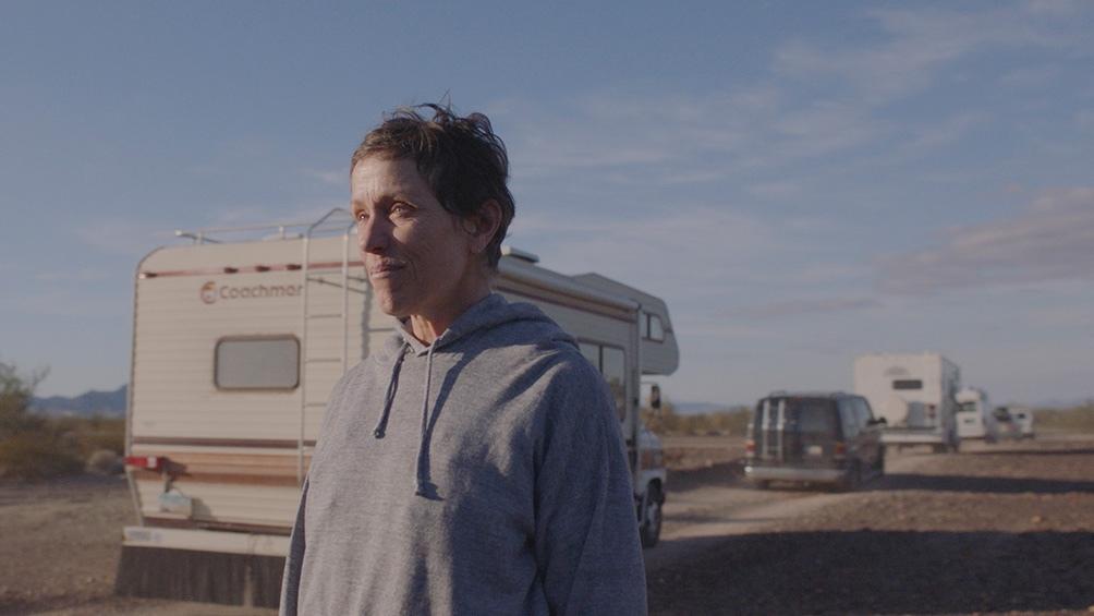 """""""Nomadland"""", la cinta premiada con el Oscar, con Frances McDormand."""