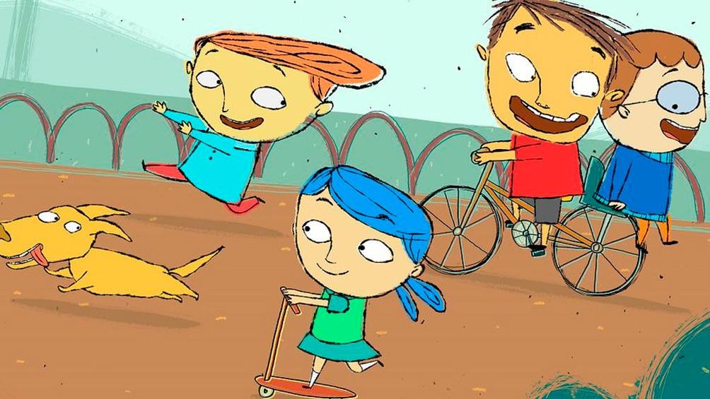 """""""Petit"""", la serie animada, está basada en el libro """"Petit el monstruo"""", de Isol."""
