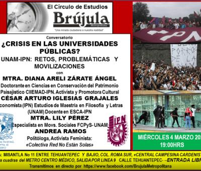 Conversatorio 4 especialistas miembros de la Comunidad Universitaria IPN-UNAM