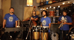 The Orkesta Mendoza released a song and a video promoting the Latino vote with the LUCHA and Seeds for Change organizations.  Photo: Courtesy of LUCHA.