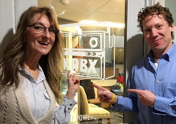 Downtown Boise Association Exec Director Lynn Hightower with Radio Boise's Chris DeRoin