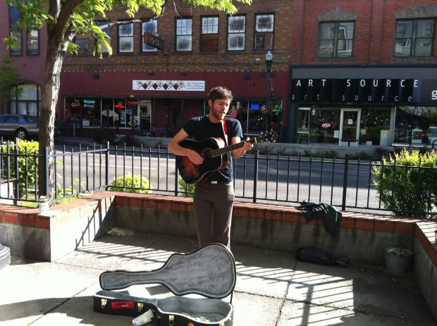 RadioBoise_BenKirby-Busking-Outside_2012