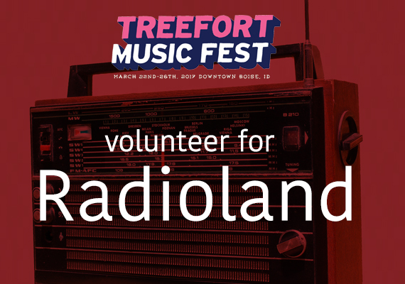 Volunteer for Radio Boise's Radioland during Treefort Music Fest 2017