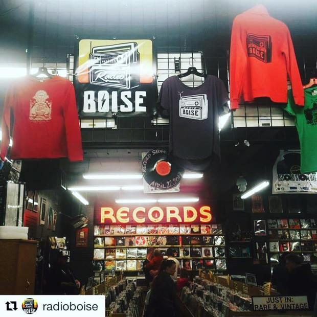 Radio Boise at Record Exchange for Idaho Gives