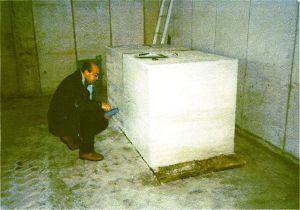 rilievo delle temperature del calcestruzzo