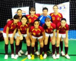 Futsal feminino conquista segundo lugar