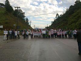 Protesto pacífico em Canelinha