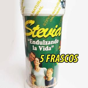 5 FRASCOS STEVIA NATURAL ENDULZANTE COMPRAR