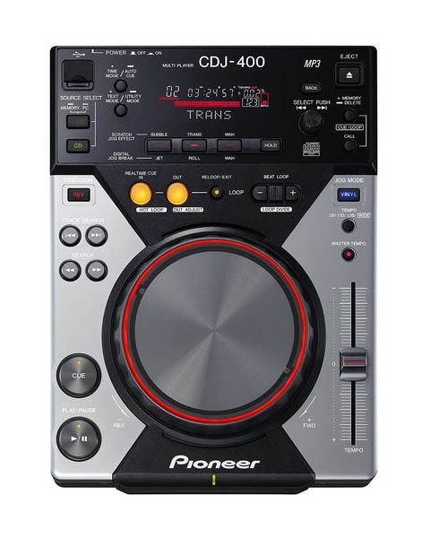 front foto of CDJ 400 from Pioneer