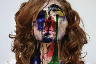 Fabric 51 - cover album with woman painted face