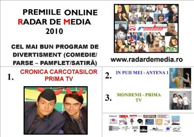 CEA MAI BUNA EMISIUNE DE DIVERTISMENT - premiile radar de media 2010 editia nr 2