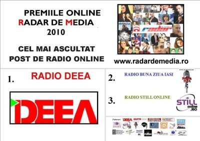 CEL MAI ASCULTAT POST DE RADIO ONLINE - premiile radar de media 2010 editia nr 2