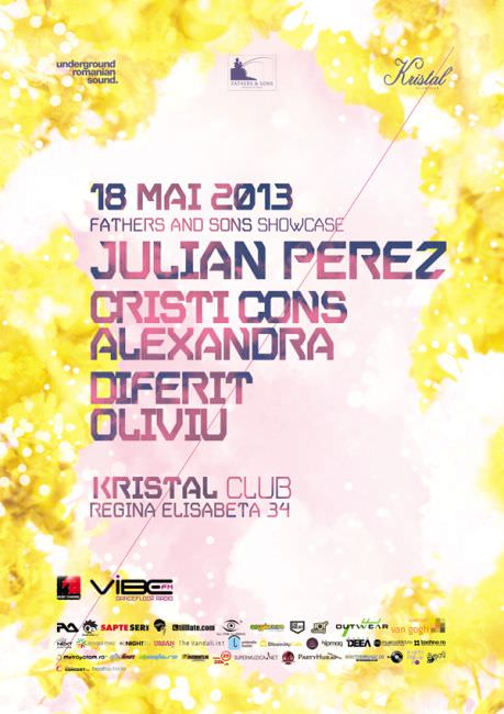 Party flyer: Julian Perez @ Kristal Club 18 Mai
