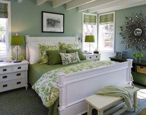 1-decor dormitor verde oua de rata vernil si alb